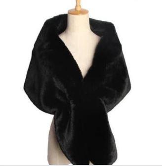Black Faux Fur Wrap